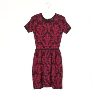 Red and Black sweater knit dress. Small.